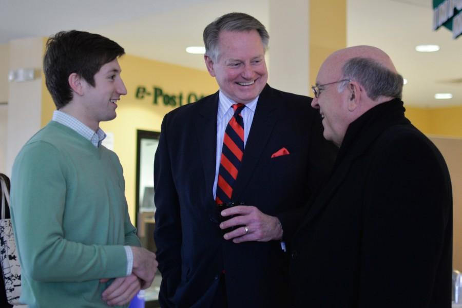 Huntington mayor Steve Williams speaks with Marshall University ...