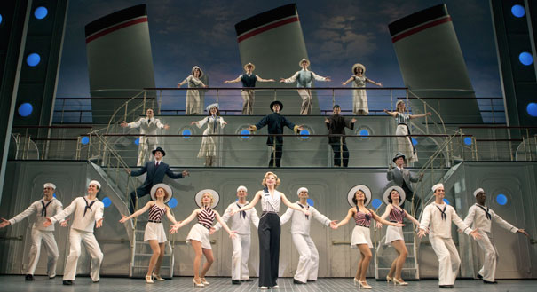 The parthenon anything goes sails onto keith albee stage
