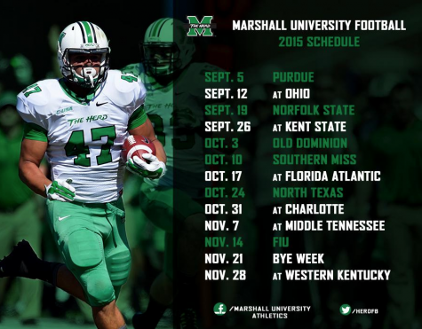 Herd football reveals 2015 schedule