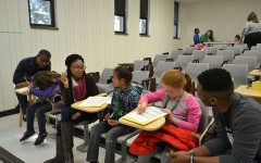 Second-graders interview students in MU Society of Black Scholars