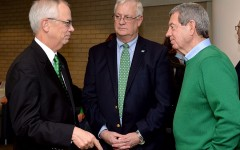 President Gilbert interacts with Mid-Ohio Valley Center campus community