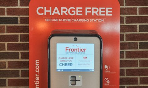Phone charging stations installed in football stadium