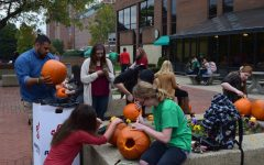 Pumpkin carving on the Plaza