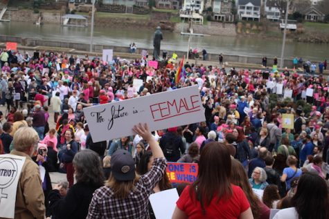 Marshall students, faculty join Women's March on West Virginia