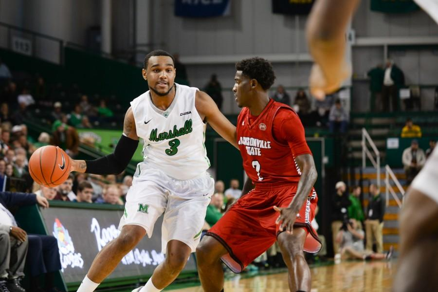 Marshall+men%E2%80%99s+basketball+defeats+Jacksonville+State+74-55+on+Friday+at+the+Cam+Henderson+Center.