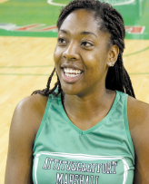 Ezeigbo works hard on the court and in the classroom