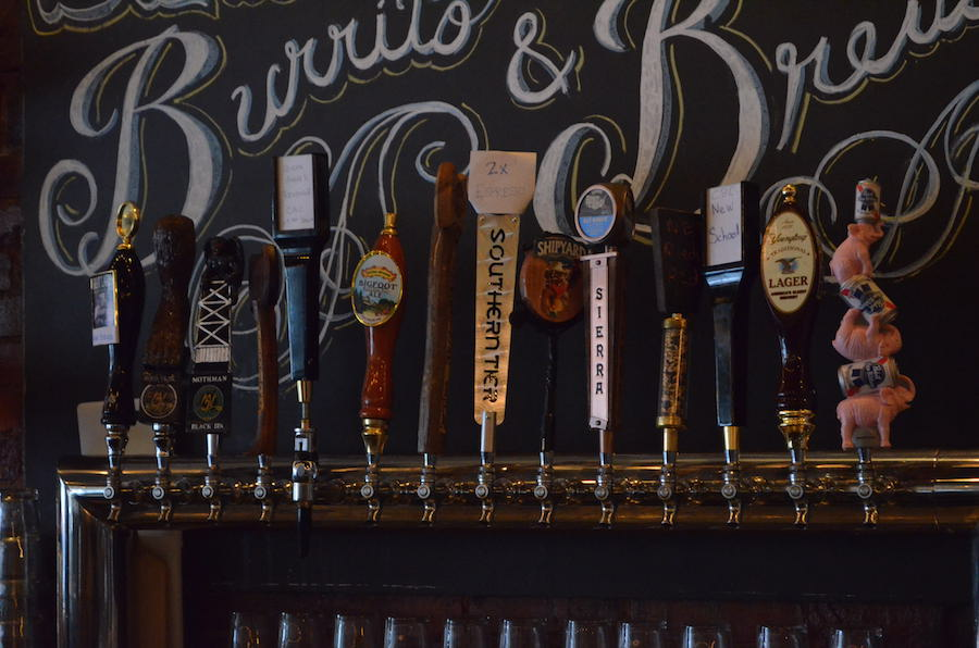 Black Sheep Burrito and Brews, located at 1555 Third Ave., offers a selection of 14 beers on tap.