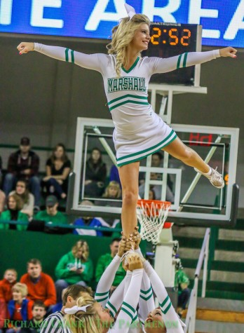 Marshall cheerleaders looking to improve student section