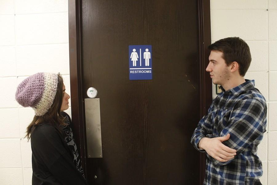 Gender-neutral+restrooms+are+established+on+Marshall%27s+campus+allowing+students%2C+who+do+not+claim+a+specific+gender+identity%2C+to+feel+more+comfortable+about+going+to+the+restroom.