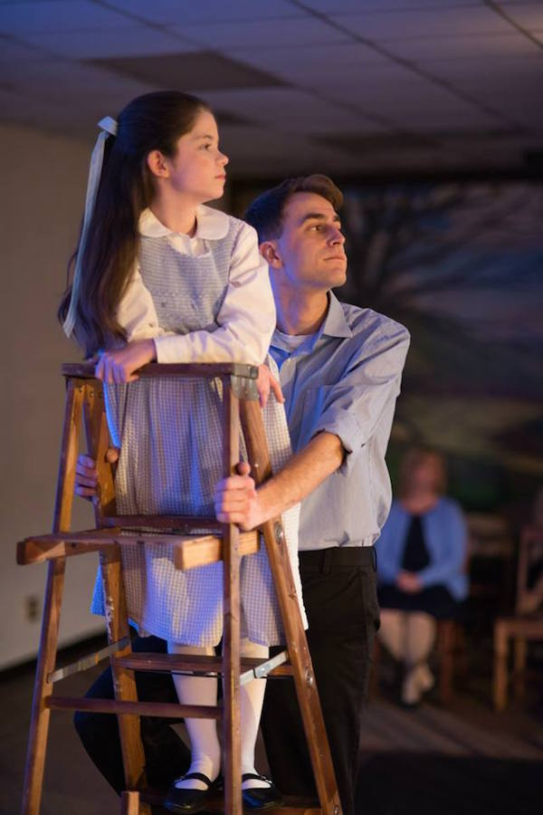 """Fiona Reynolds, left, and Luke Matlock play Rebecca and George Gibbs respectively in ARTS Resources for the Tri-State's production of Thornton Wilder's """"Our Town"""" at the ARTS Renaissance Center."""