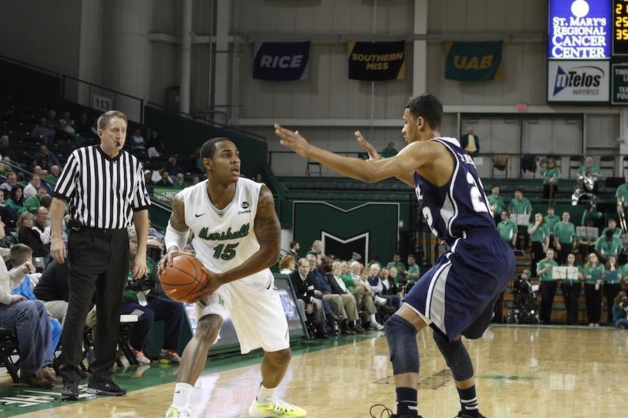 Marshall+University+men%27s+basketball+team+takes+on+the+Owls+of+Rice+University+Thursday+in+the+Cam+Henderson+Center.+
