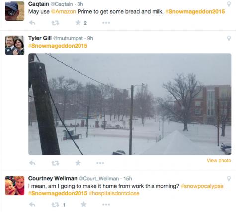 #Snowpocalypse causes wide-spread necessity panic