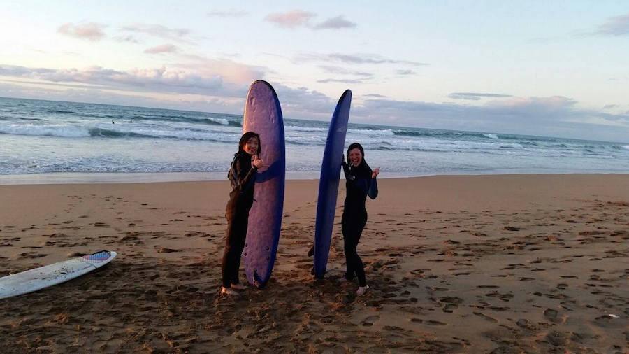 Surfing in Rabat