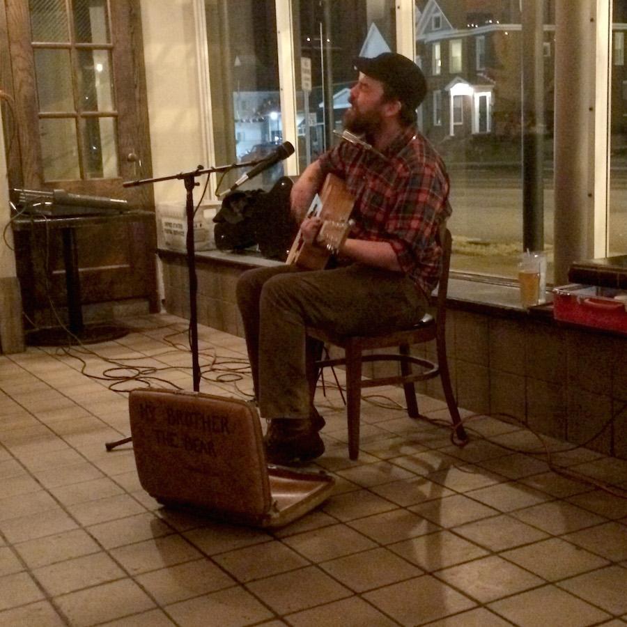 Daniel Bayer of one-man band My Brother the Bear, plays a set at Black Sheep Burritos and Brews Saturday.