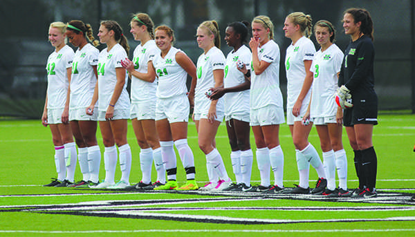 Herd women's soccer prepares to take on University of Cincinnati Sept. 12, 2014 at the Veteran's Memorial Soccer Complex.