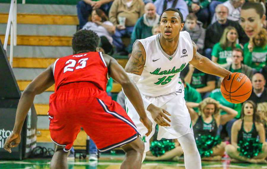 Senior men's basketball players, cheerleaders, and dance team members were honored Saturday prior to the final home game of the season. The Thundering Herd beat the Florida Atlantic University Owls 79-63.