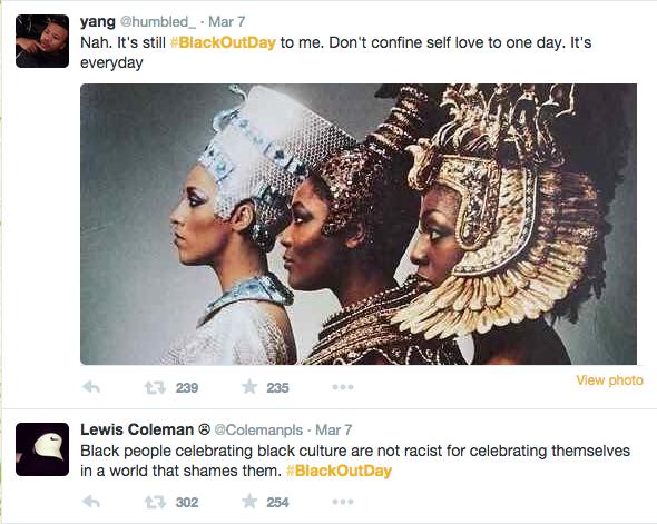 #BlackOutDay beautifies social media