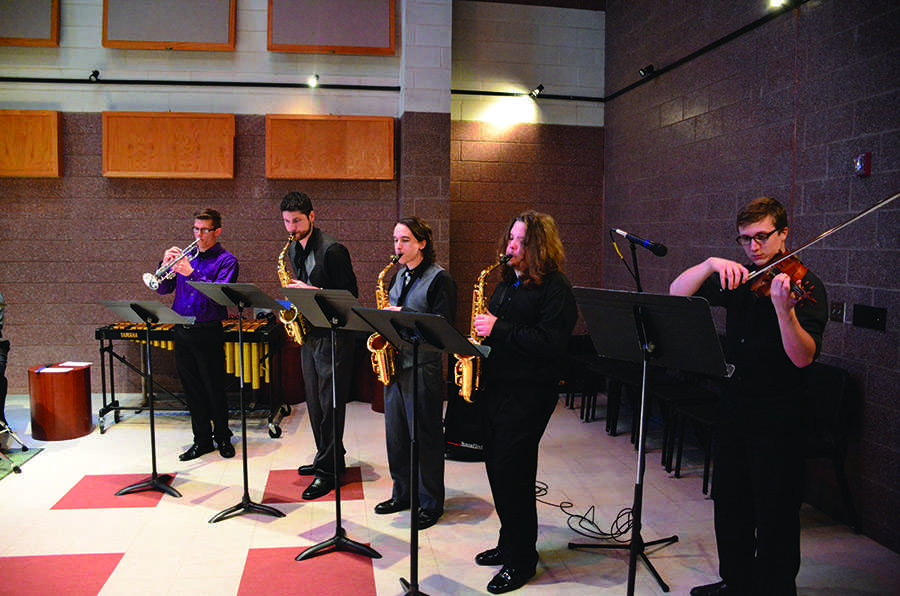Jazz Combo IV performs Tuesday in the Jomie  Jazz Forum.