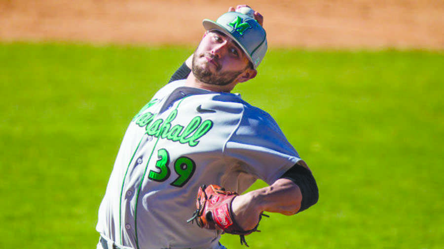 Clint Wilson pitches on the mound against Akron University Tuesday, at Lee R. Jackson field.