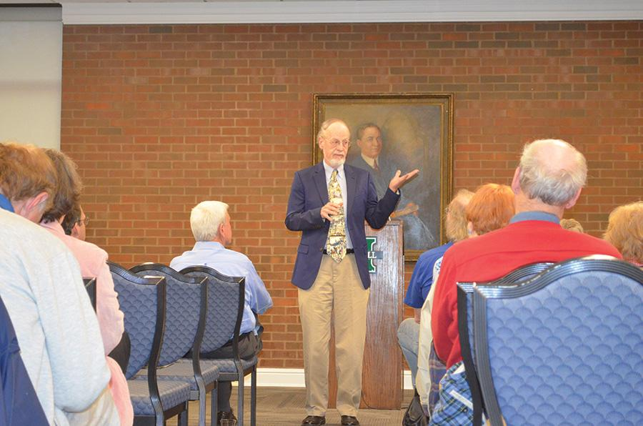 Richard McMurry gives a second lecture on campus about Civil War history Wednesday.