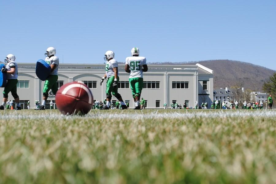 The+Herd+begins+its+first+spring+scrimmage+at+the+Greenbrier+Saturday.+