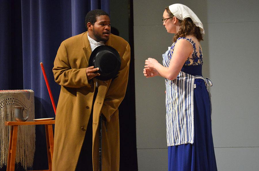 Johnathan Young, left, and  Hillary Herold perform scene at the 2015 Opera Gala Friday.