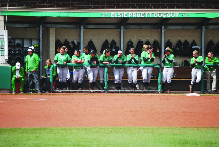 Herd+Softball+dominates+Northern+Kentucky+University+Wednesday+at+Dot+Hicks+Field.+