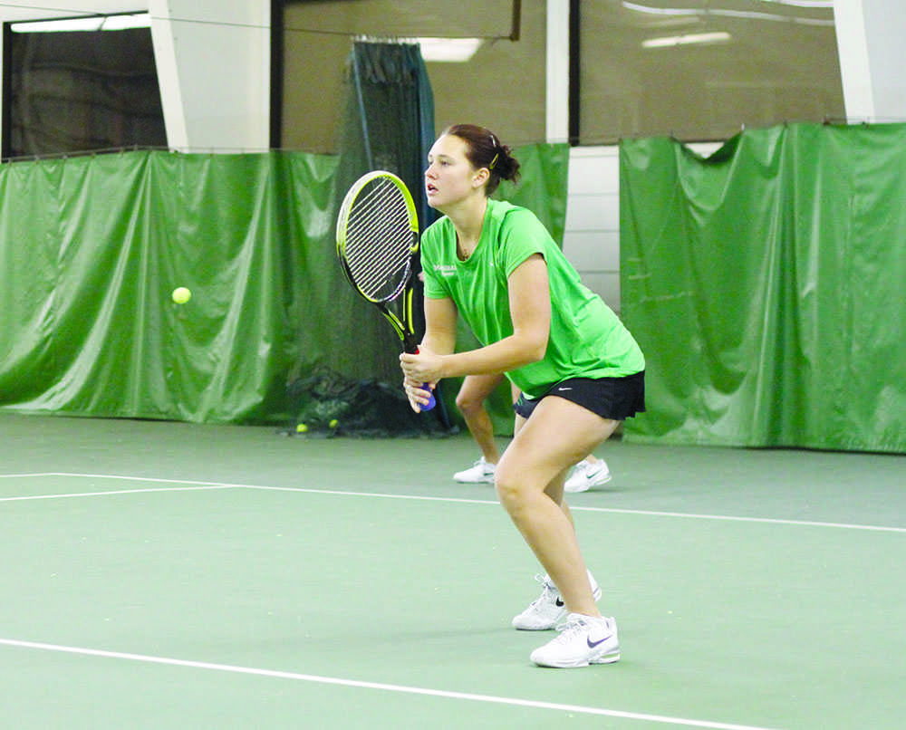 Marshall University plays Radford University at the Huntington Tennis Club in Barboursville, W.Va., on Sunday, Jan. 26.