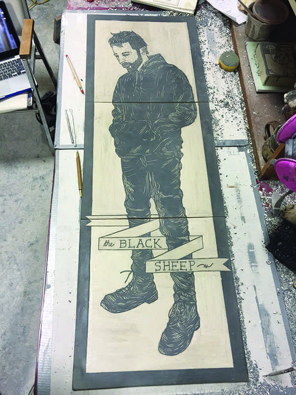 Clay painting. Brett Tucker.