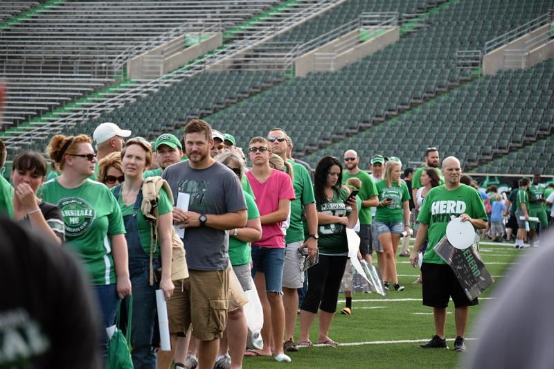 Marshall University football held its annual fan fest Sunday evening. After Thundering Herd players took team photos, they signed autographs and took pictures with hundreds of fans. The Herd opens the 2015 season with a home game against Purdue University on Sept.6.