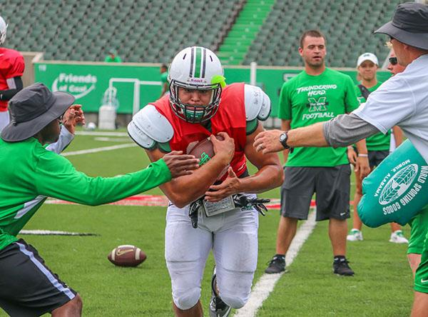 Devon Johnson at practice