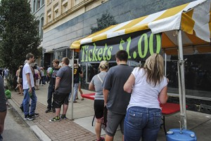 Patrons purchase tickets for last year's Chilifest.