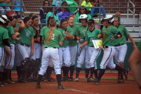 Herd softball dominates in exhibition doubleheader