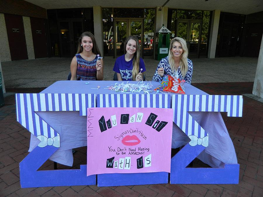 Tri Sigma members raise awareness about hazing.