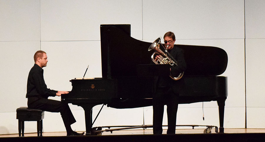 Michael Stroeher and Johan Botes perform in Smith Recital Hall.