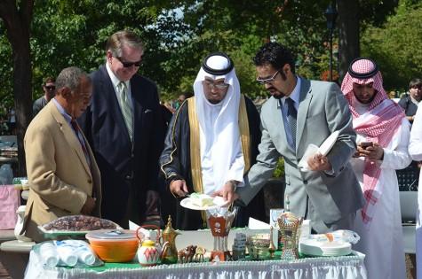Mayor, students celebrate Saudi Arabia National Day