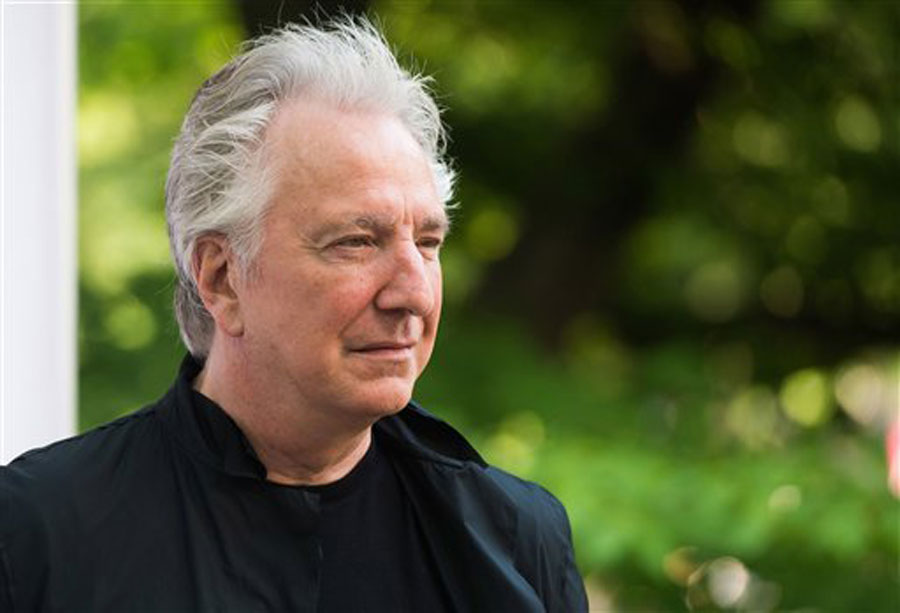 Actor Alan Rickman attends The Public Theater's Annual Gala at the Delacorte Theater in Central Park, in New York.