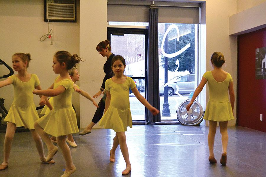 Children participate in a program taught as part of the JPAC program at 4th Ave Arts, February 8, 2016.