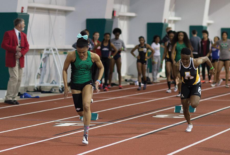 Women's track meet on February 13, 2016.