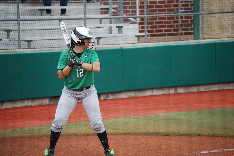 Emileigh Cooper goes to bat during a game last season at Dot Hicks Field.