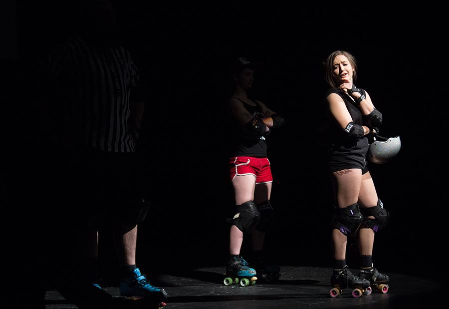 Regan Martinez leads a squad of rollers in performing