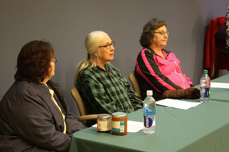 Left to right: Donetta Blankenship, Deb Pekny and Barbara Hagan discuss environmental dangers during the Rural Women in Activism panel discussion.