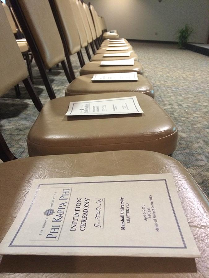 Marshall University students were inducted into to Phi Kappa Phi honor society Tuesday at the Memorial Student Center.