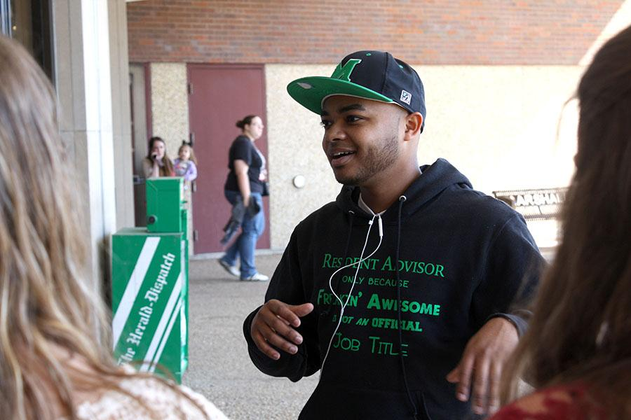 Junior business management and management information systems major Anthony Bady can't help but smile when talking about his own memories as a member of the Marshall campus community.