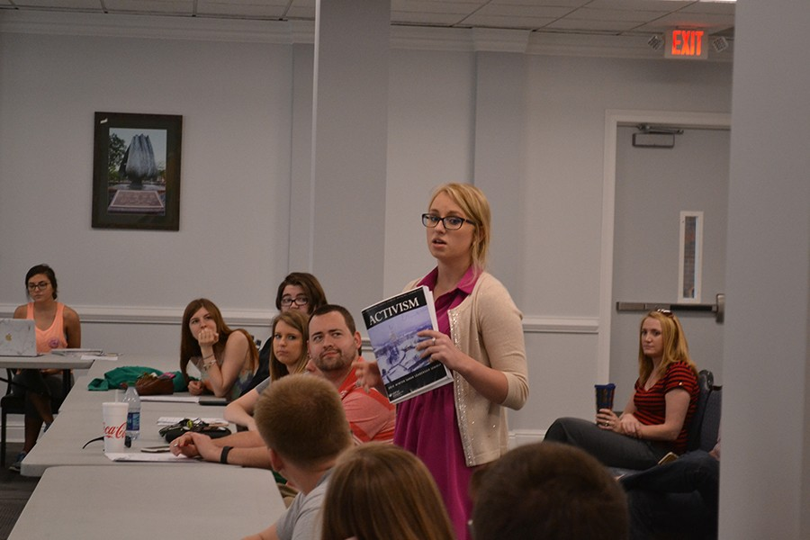 Eva Hawden, a lobbyist representing the American Israel Public Affairs Committee, encouraged students to attend the Saban Leadership Seminar in Washington, D.C. July 10-13.