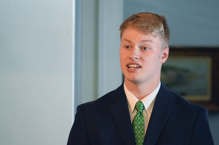 SGA President Matt Jarvis, who wrote a letter to W.Va Delegates urging them to vote against House Bill 4012.