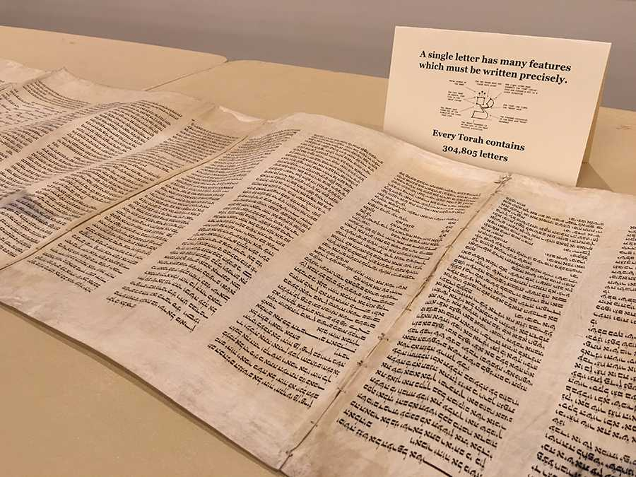 A Torah Scroll that was purchased in Israel was on display at the Hell Yes event Monday night hosted by Ratio Christi.