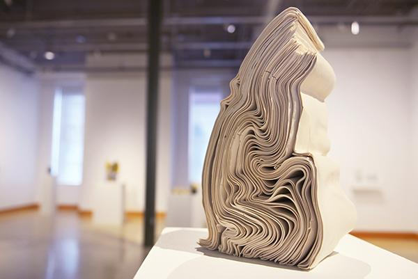 "Lauren Herzak- Bauman, ""Stack"" is on display during the Appalachian Dirt exhibition inside the Visual Arts Center. The exhibition will end July 22."