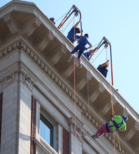 Local residents go 'Over the Edge' for charity