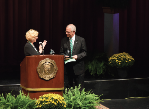 Gilbert lectures on 'Gold Standard' of civic responsibility